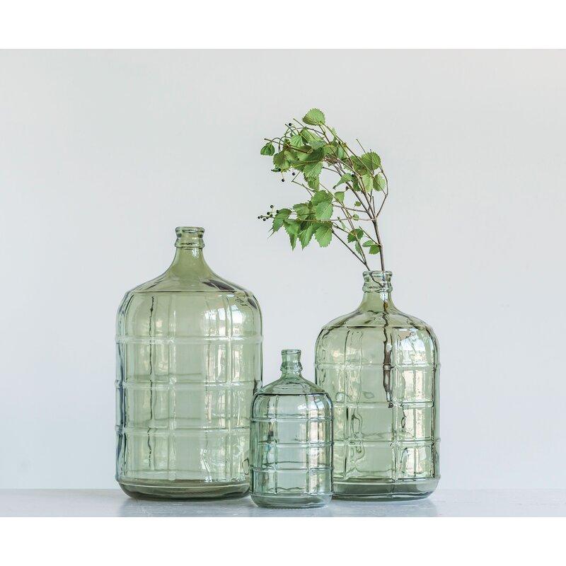 Meaux Green Glass Decorative Bottles