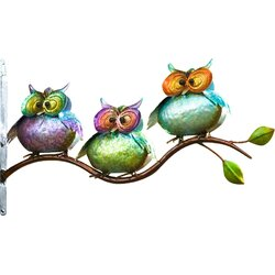 Metal Owl Wall Decor plow & hearth 3 metal owls on branch wall decor & reviews | wayfair