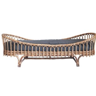 Bungalow Rose Kistner Rattan Daybed with Mattress
