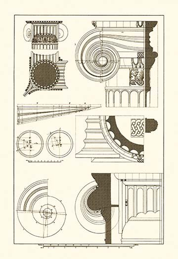 Buyenlarge Capitals Of The Erechtheum By J Buhlmann Graphic Art Wayfair