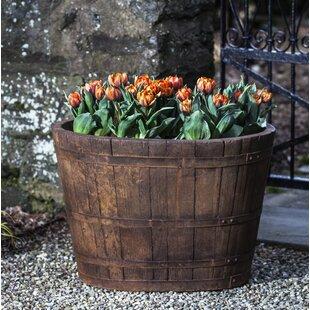 Cast Stone Barrel Planter