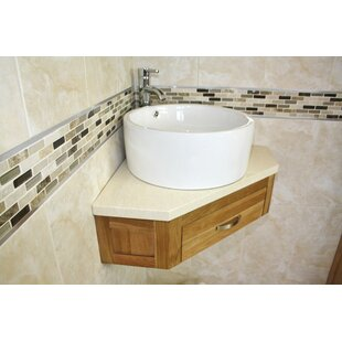 Covell Compact Solid Oak 550mm Wall Mounted Vanity Unit By Belfry Bathroom