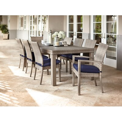 Castelli 9 Piece Sunbrella Dining Set With Cushions by Wade Logan Today Only Sale