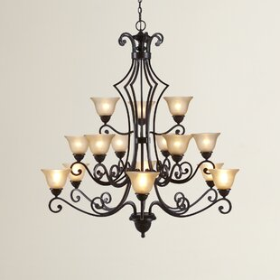 Fleur De Lis Living Alsager 15-Light Shaded Chandelier