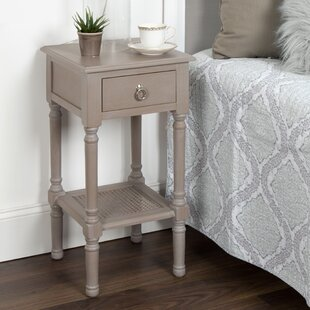 Dedman Solid Wood Casual Nightstand End Table