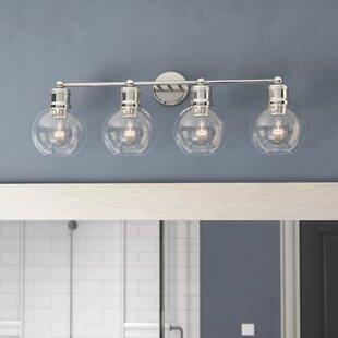 Read Reviews Aula 4-Light Vanity light By Ivy Bronx
