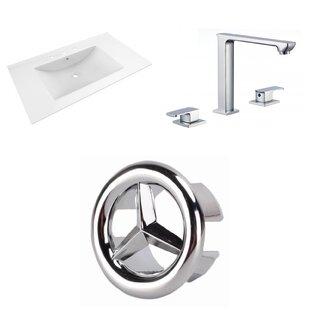 3 Hole Ceramic 36 Single Bathroom Vanity Top by American Imaginations