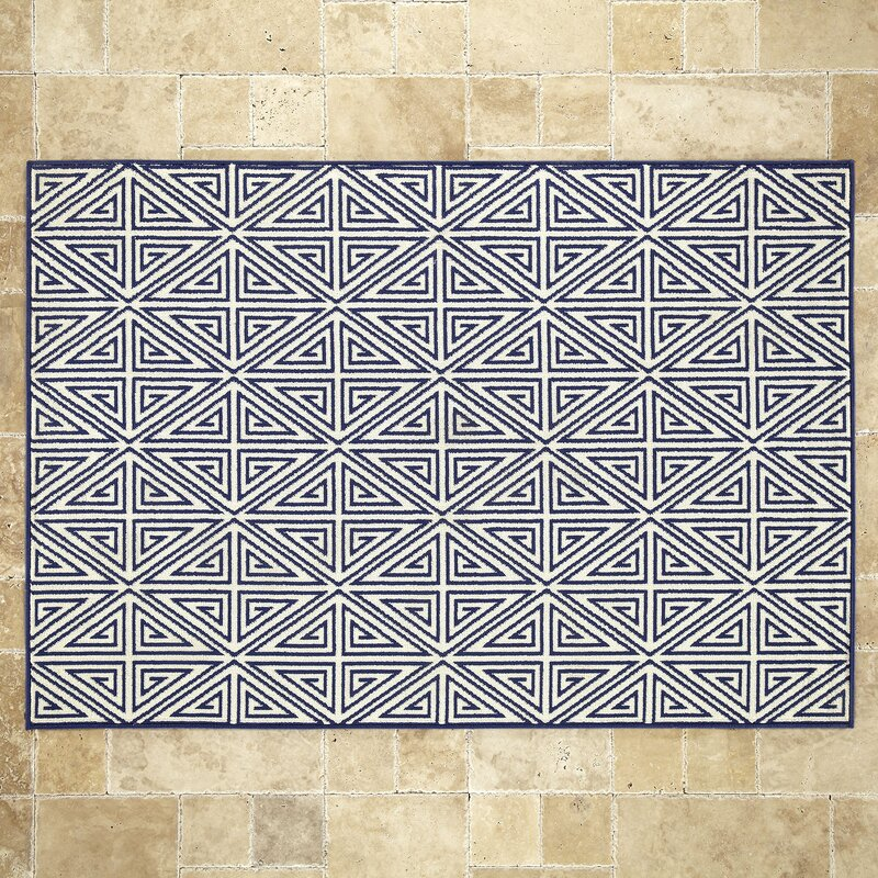 Birch Lane™ Navy Indoor/Outdoor Area Rug & Reviews | Birch Lane