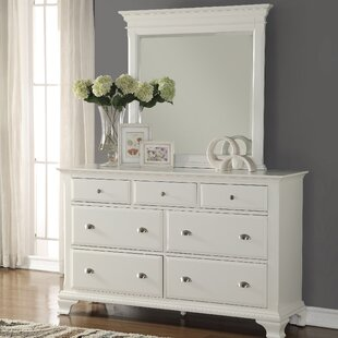 Shenk 7 Drawer Dresser with Mirror