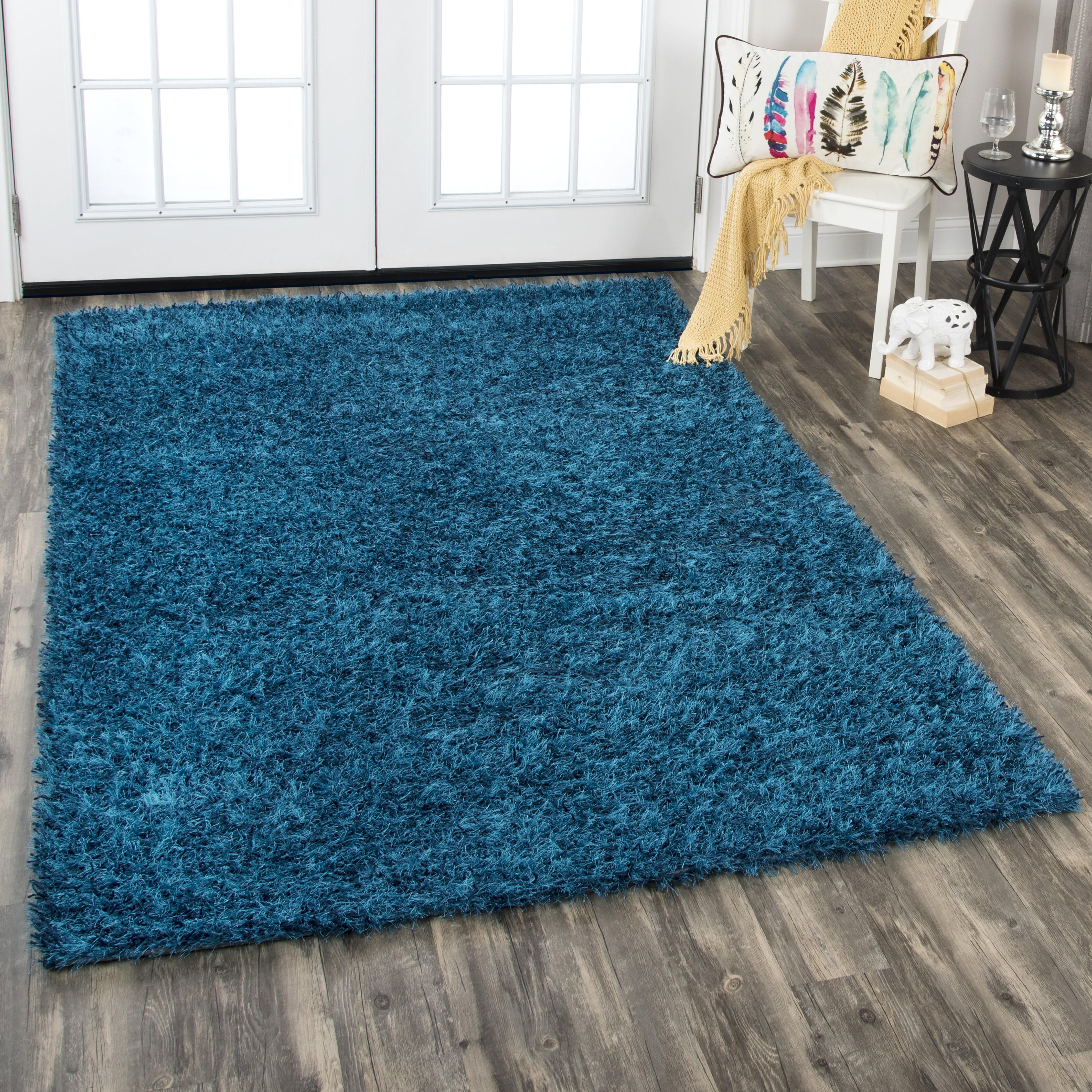 Wrought Studio Callao Wool Blue Area Rug Wayfair