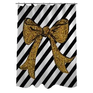 Glitter Bow Single Shower Curtain