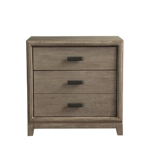 Hunziker 3 Drawer Nightstand