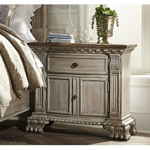 Lanford Spacious Wooden 1 Drawer Nightstand