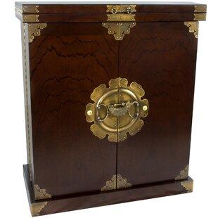 Korean Bar Cabinet with Wine Storage by Oriental Furniture