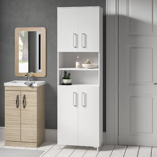 Atlanta 60.5 X 200 Tall Bathroom Cabinet By Fackelmann
