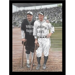 'Babe Ruth and Lou Gehrig' Print Poster by Darryl Vlasak Framed Memorabilia by Buy Art For Less