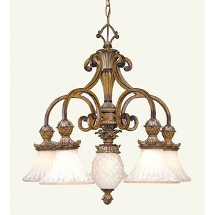 Astoria Grand Scotland 5-Light Shaded Chandelier