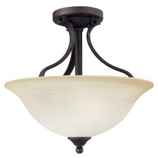 Corwin Traditional 2-Light Semi Flush Mount by Andover Mills