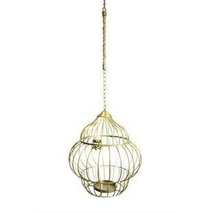 Slickly Bird Cage Hanging Metal Lantern by Bungalow Rose