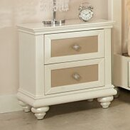 Paris 2 Drawer Nightstand