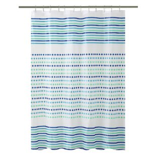 Dot and Stripe Deesign PEVA Shower Curtain By Bath Bliss