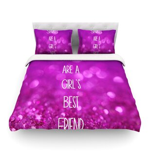 Sparkles are a Girls Best Friend Glitter Featherweight Duvet Cover