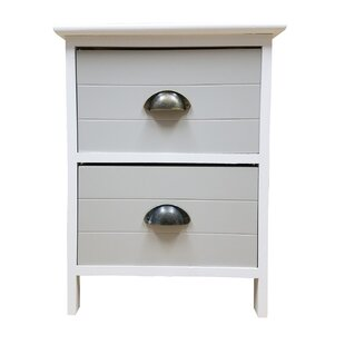 Evideco 2 Drawer Nightstand