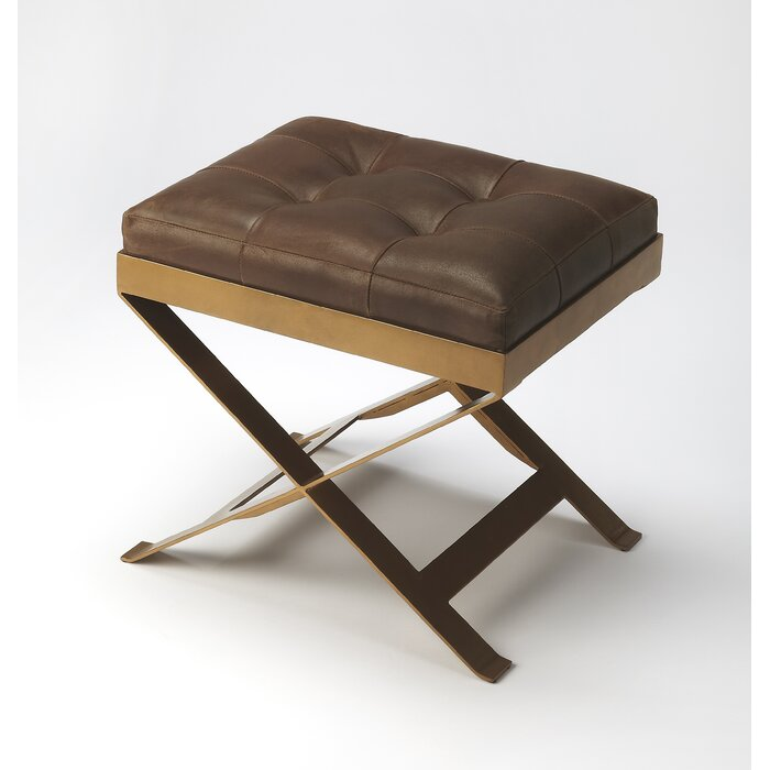 Prime Hudgins Leather Vanity Stool Gmtry Best Dining Table And Chair Ideas Images Gmtryco