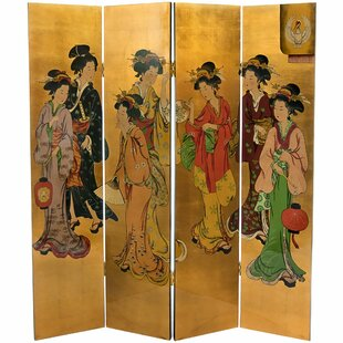 Rosenthal 4 Panel Room Divider by Bloomsbury Market