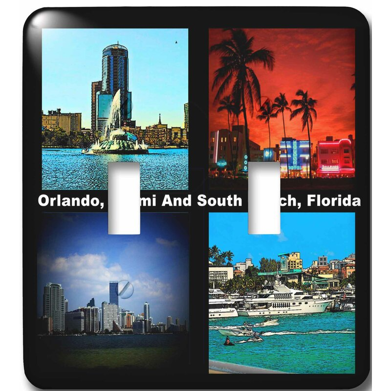 3drose Orlando Miami And South Beach Florida 2 Gang Toggle Light Switch Wall Plate Wayfair