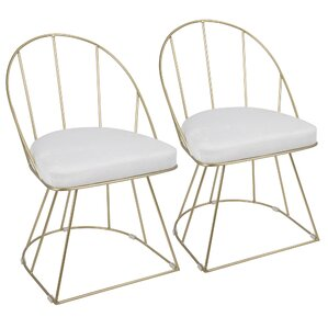 Lystra Upholstered Dining Chair (Set of 2) by Everly Quinn