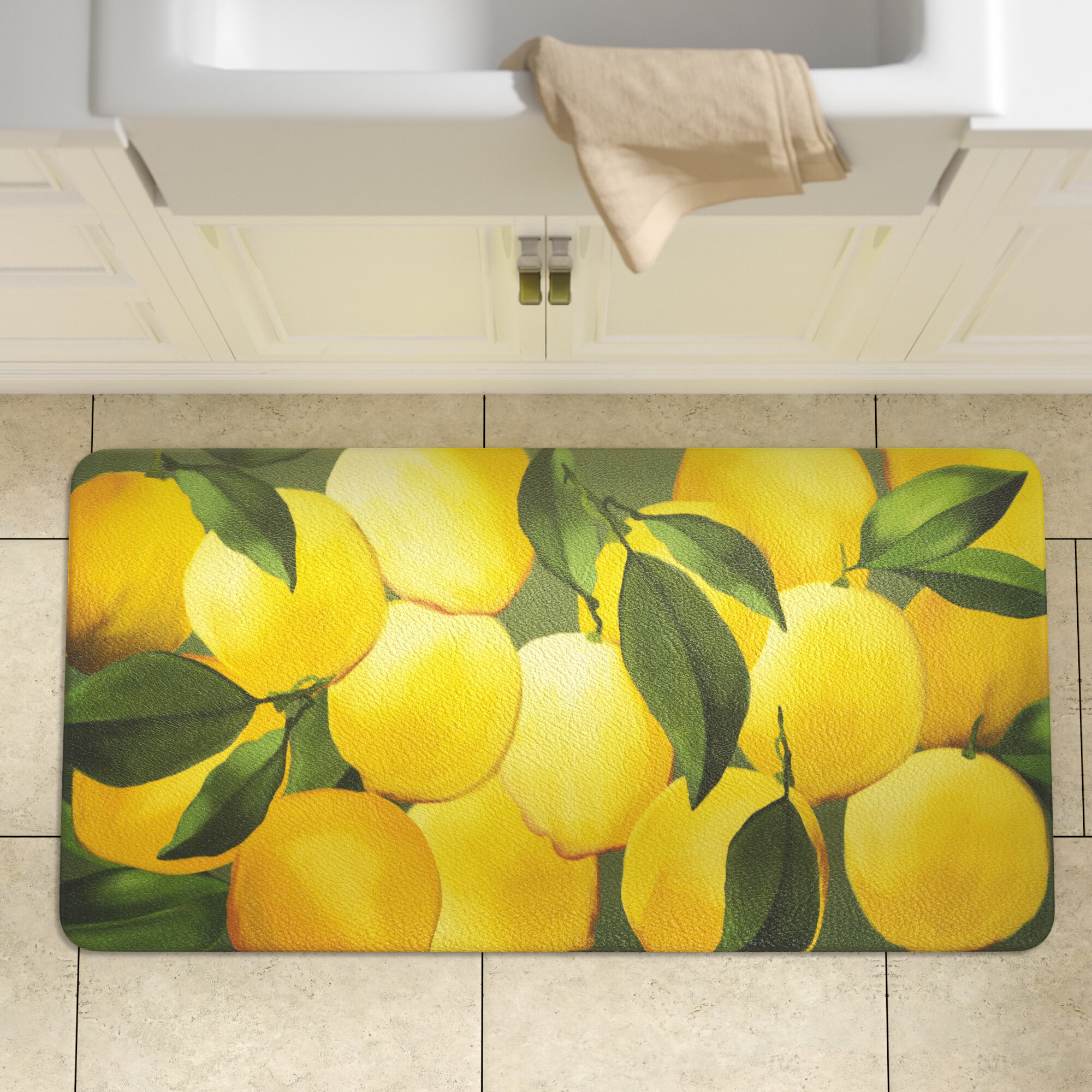 Lemon Yellow Rug Kitchen Mats You Ll Love In 2021 Wayfair