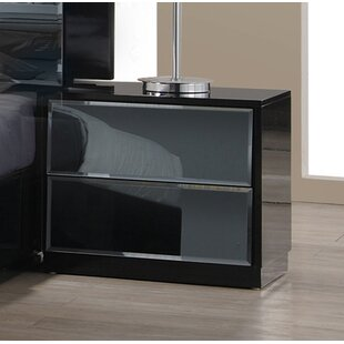 Ashish 2 Drawer Nightstand