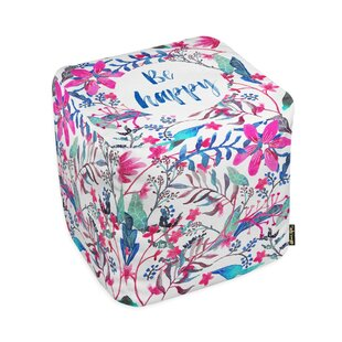 Oliver Gal Home Colorful Happy Pouf by Oliver Gal