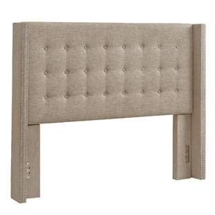 Bourgeois Upholstered Wingback Headboard by Three Posts