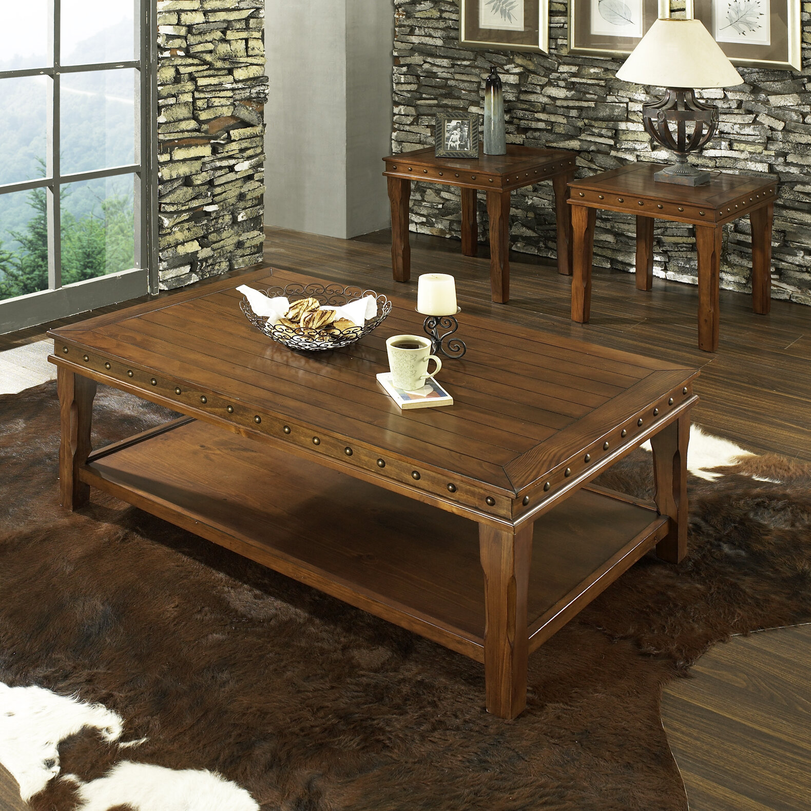 Loon Peak Ellecourt 3 Piece Coffee Table Set & Reviews