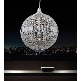 4-Light Crystal Chandelier by CWI Lighting
