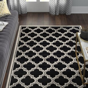 Maritza Power Loomed Black/Gray Indoor/Outdoor Area Rug