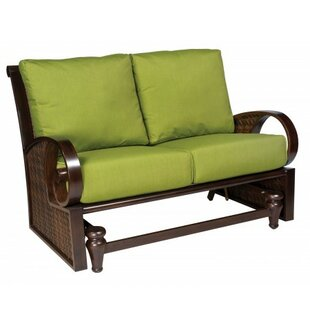Woodard North Shore Loveseat Glider Bench with Cushions