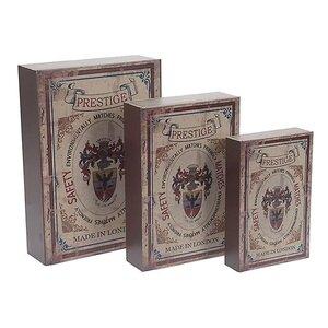 3-tlg. Bücherbox-Set von Inart
