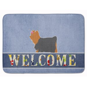 Yorkshire Terrier Yorkie Welcome Memory Foam Bath Rug