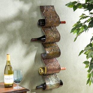 Buy Astoria Grand Barbury 5 Bottle Wall Mounted Wine Rack Deals