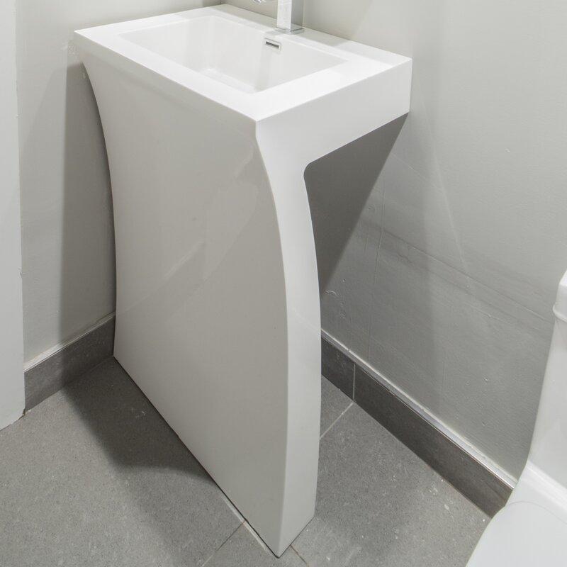 Modern Pedestal Sinks AllModern - Bathroom pedestal sinks