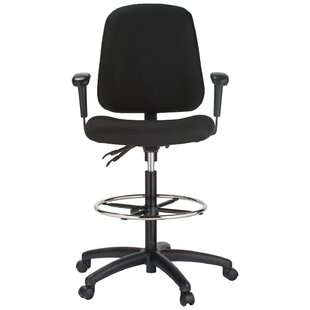 Contoured Dual Function Mid-Back Drafting Chair