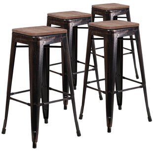Geraldine 30 Bar stool (Set of 4) Williston Forge