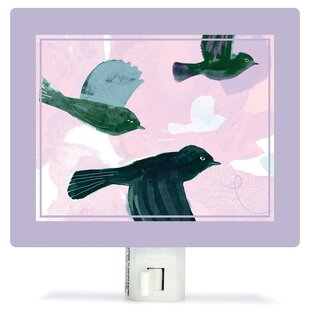 Oopsy Daisy Flighty Birds by Barbara Chotiner Canvas Night Light
