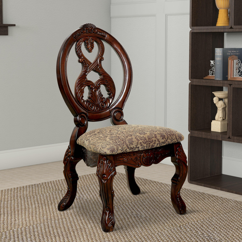 Astoria Grand Baschey Upholstered Queen Anne Back Side Chair In Antique Cherry Wayfair