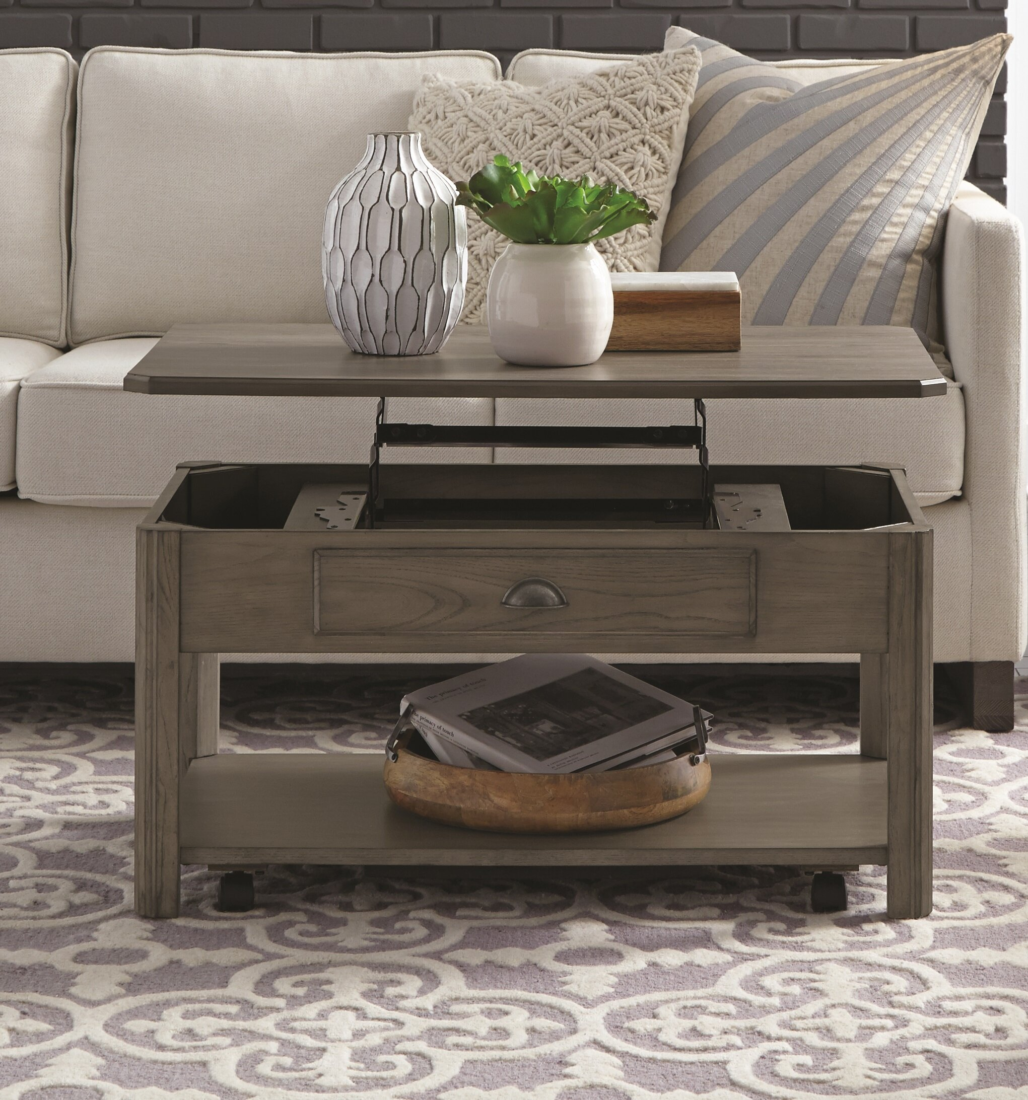 - Darby Home Co Fernville Lift-Top Coffee Table With Storage