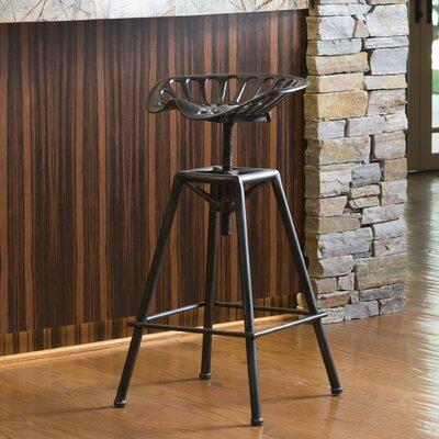 Marvelous Williston Forge Belkis Adjustable Height Bar Stool Finish Black Machost Co Dining Chair Design Ideas Machostcouk