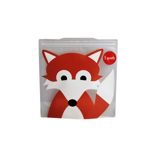 3 Sprouts Fox Sandwich Bag (Set of 2)